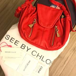 紅色 See by Chloe shoulder bag