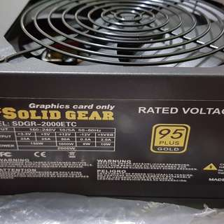 Solid Gear Power Supply Unit (PSU) 2000 watts 95 Plus Gold