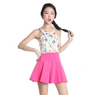 TTR's Flippy Scuba Skirt (Hot Pink) M