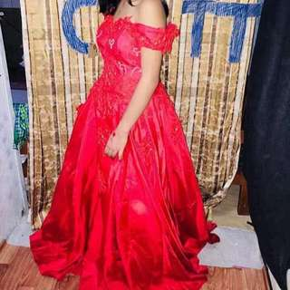 Red Ball Gown for rent!