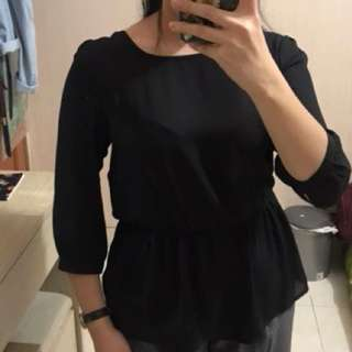 Forever 21 Black Blouse