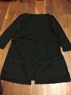Uniqlo Black Long Sleeve Blouse: Get5Free1 *T&Cs