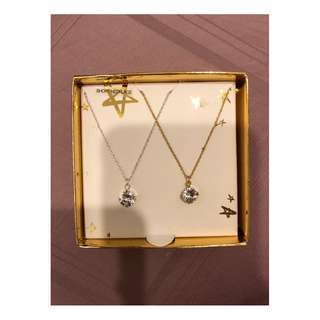 LOVISA diamond necklace (pair)