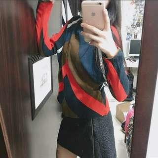 🚚 Zara  撞色立體剪裁 修身顯瘦 雪紡上衣