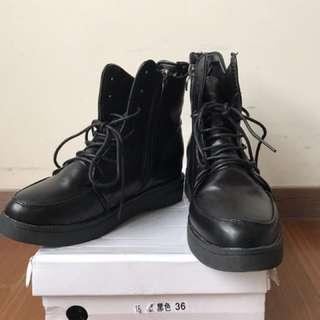 短靴  黑色個性短靴