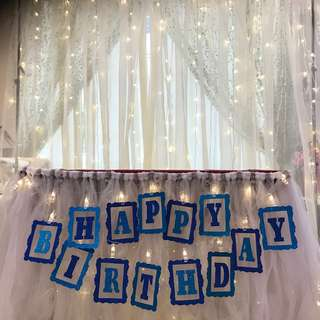 Rental /Sale of Made-to-order Thematic Buntings/ Tutu Table Skirtings/ Fairy Lights etc...