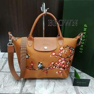 Longchamp Sakura Brown Color