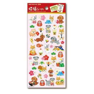 Only 1 Instock! (Mix & Match)*Mind Wave Japan - Japanese Good Fortune Seal Nihon Inu theme Stickers