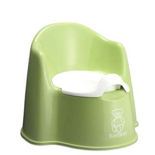 BABYBJORN Potty Chair, Green/White