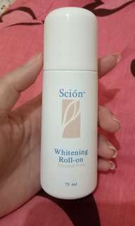 Scion whitening roll on