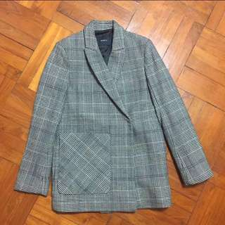 Mo & Co checked blazer