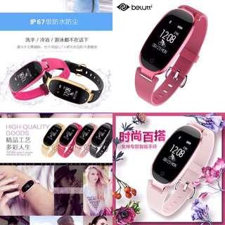 智能手環 女款測心率 多功能 藍牙 計步器 蘋果 安卓 防水 運動手錶