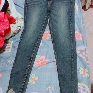 韓牛仔褲💕腳尾爛,修長款!