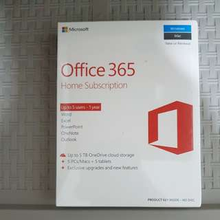 Microsoft Office 365 Home Subscription NEW