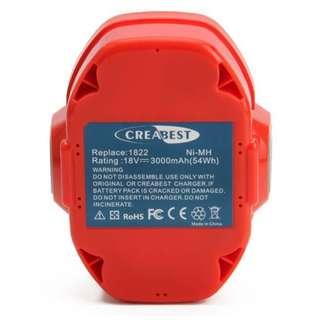 Creabest 18V 3.0Ah High Capacity Ni-MH Battery for Makita PA18 1822 1823 1834 1835 192826-5 192827-3 192829-9 193159-1 193140-2 193102-0 194105-7 Fit for Makita 4334D 5026DA 5036DA 5046DA 6343D 6347D 8390D 8391D 8443D JR180D LS711D LS800D ML183 UB181D