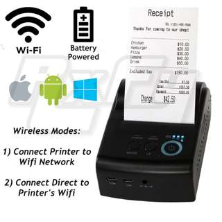 58mm Wifi Wireless Mobile Thermal Receipt Printer POS network iOS iphone ipad Android Windows USB
