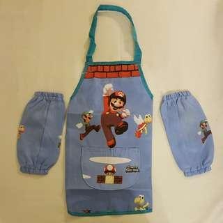 Children's Apron & Arm Protector - Super Mario
