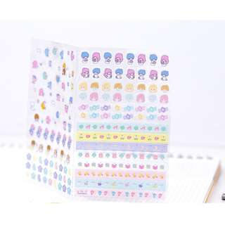 Restock only 2 pcs! (Mix & Match)* Sanrio Japan - Little Twin Stars Masking Seal