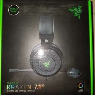 Headset Razer Kraken Chroma 7.1 V2 (Versi 2) kondisi Super Like New
