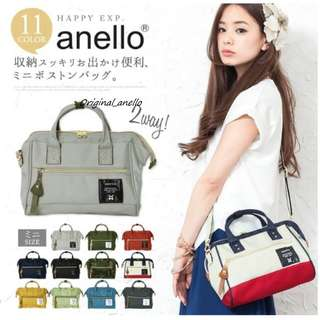 MOVING OUT SALES !  Model :  AT-H0851 . Authentic Anello PolyesterCanvas Boston Sling [ MINI ]