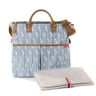 Skip Hop Duo Special Edition Diaper Bag - Blue Split Stripe