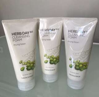 The Faceshop Herb Day 365 Cleansing Foam Mung Beans