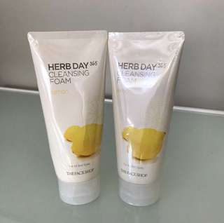 THE FACESHOP Herb Day 365 Cleansing Foam Lemon
