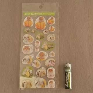 多款! 倉鼠 布丁鼠 貼紙 Hamster teddy bear hamster sticker san-x