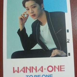 wanna one 官方罐postcard