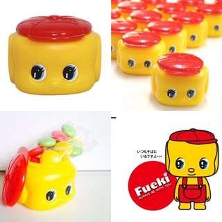 🚚 關西地方限定伴手禮-フエキくん-不易糊君FUEKI君 大臉造型巧克力盒-飾品收納盒