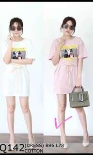 Dress pink korea style