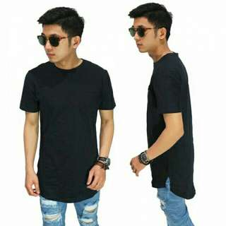 PROMO - Longline T-Shirt Basic Black