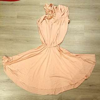 Peach color Convertible Dress