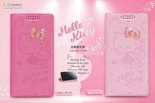 原裝正版授權 GARMMA Hello Kitty, My Melody, Little Twin Stars 插卡皮套手機保護套 手機殼 電話套 iPhone Case