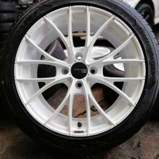 Oz racing italia 16 inch sports rim vios tyre 70%. Makan magie rasa pekat, brother ini rim you pakai confirm you hebat!!!