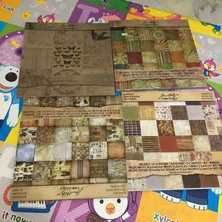 12x12 Scrapbooking paper pads clearance sale Tim Holts designer papers