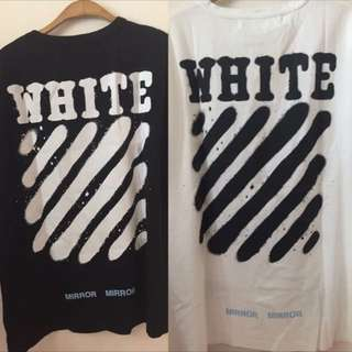 Off white tee s m l