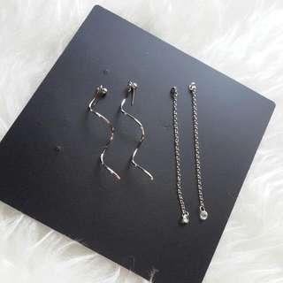Spiral Diamond Cut Earrings
