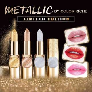 [NEW, SALE!] Limited Edition Metallic PURE GOLD Lipstick by Color Riche, L'Oreal Paris