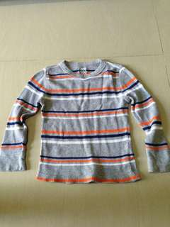 knitted long sleeves (stripes)