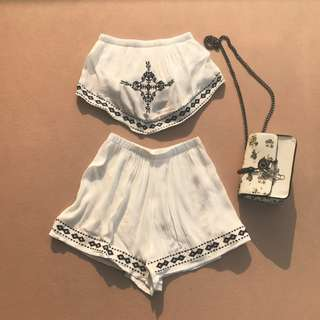 Instock Boho Style Two Piece Set (Free Mailing)