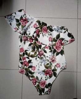 Women's one shoulder bathing suit- 1 piece