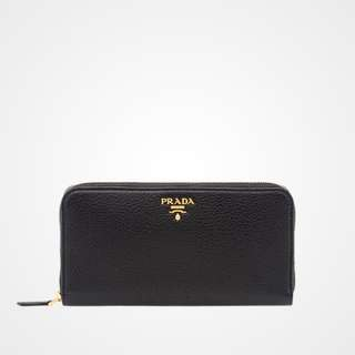 Just In! Large New Real Prada Wallet in Calf Leather with Gold Zipper (bought in March 2018)