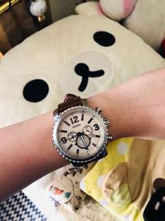 Fossils Leather Watch