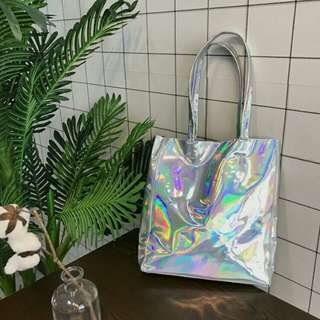 Holographic tote bag
