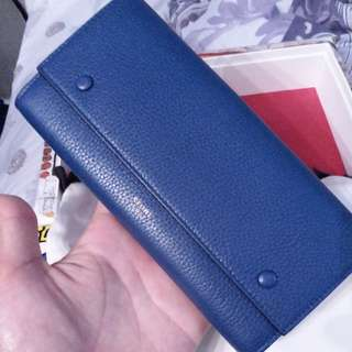 celine wallet long wallet classic blue 銀包 長銀包