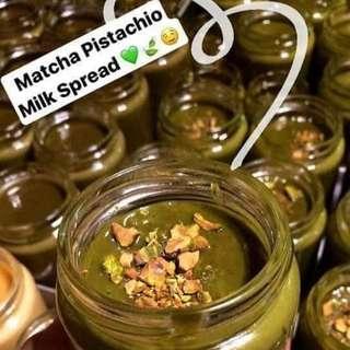 Matcha Pistachio Milk Spread