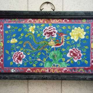 Navy Color Nyonya Style Wall Panel