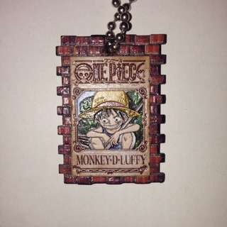 One Piece Monkey D Luffy Wanted Poster Keychain
