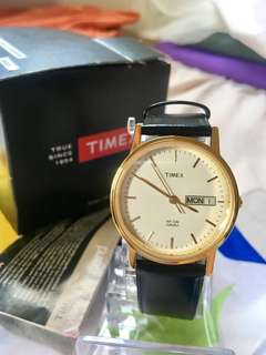 Authentic Timex leather watch